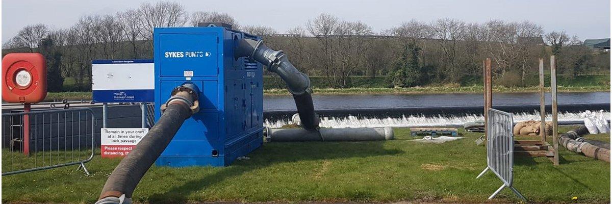 Cabinet pumps on river
